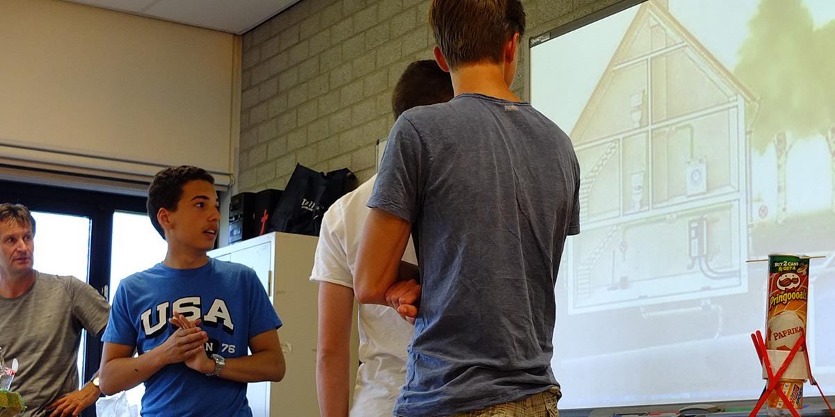 Presentatie van project door leerlingen